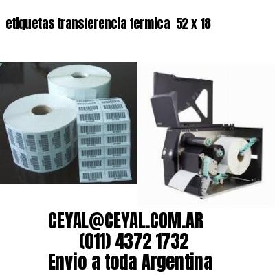 etiquetas transferencia termica  52 x 18