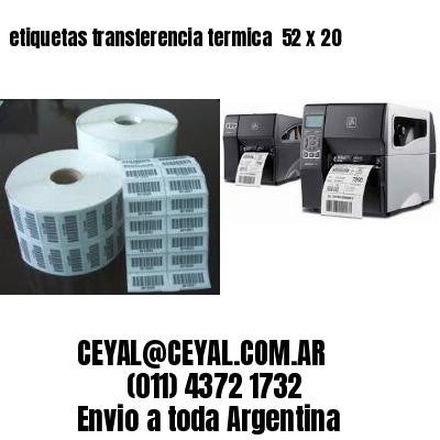 etiquetas transferencia termica  52 x 20
