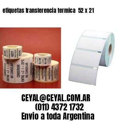 etiquetas transferencia termica  52 x 21