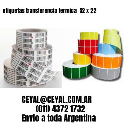 etiquetas transferencia termica  52 x 22