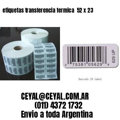 etiquetas transferencia termica  52 x 23