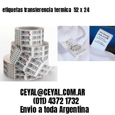 etiquetas transferencia termica  52 x 24
