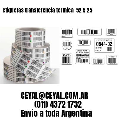 etiquetas transferencia termica  52 x 25