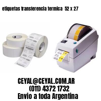 etiquetas transferencia termica  52 x 27