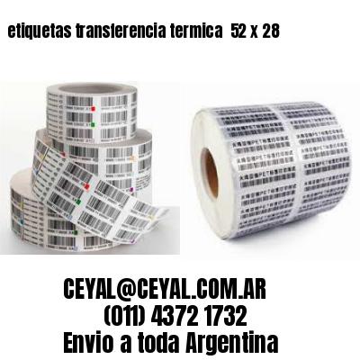 etiquetas transferencia termica  52 x 28