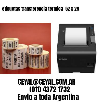 etiquetas transferencia termica  52 x 29