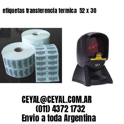 etiquetas transferencia termica  52 x 30