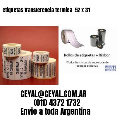 etiquetas transferencia termica  52 x 31