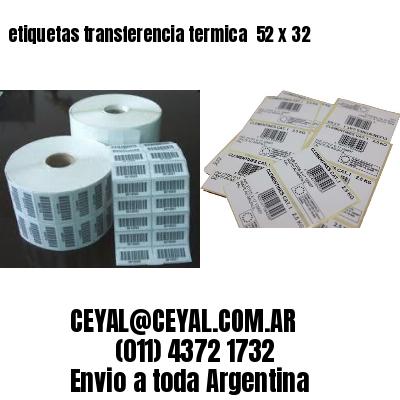 etiquetas transferencia termica  52 x 32