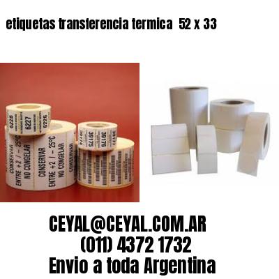 etiquetas transferencia termica  52 x 33