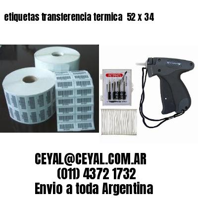 etiquetas transferencia termica  52 x 34