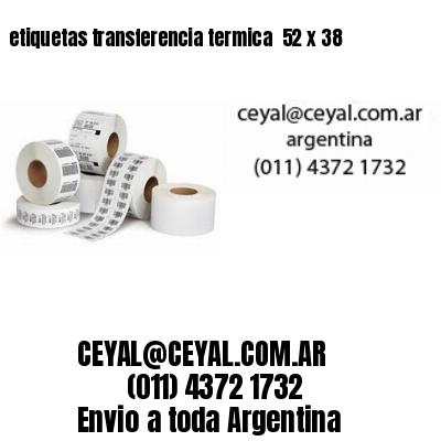 etiquetas transferencia termica  52 x 38