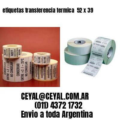 etiquetas transferencia termica  52 x 39
