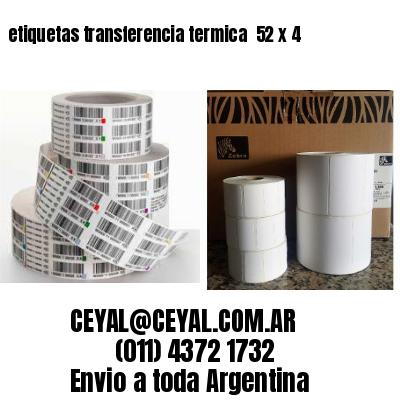 etiquetas transferencia termica  52 x 4