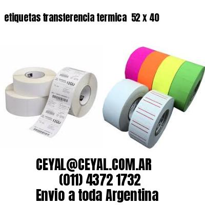 etiquetas transferencia termica  52 x 40