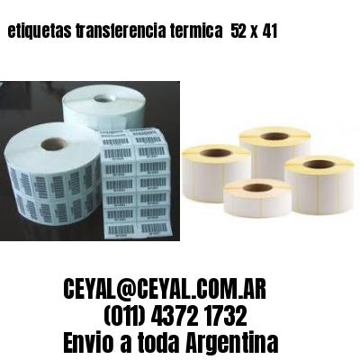 etiquetas transferencia termica  52 x 41