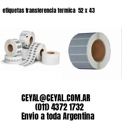 etiquetas transferencia termica  52 x 43