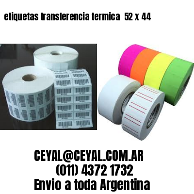 etiquetas transferencia termica  52 x 44