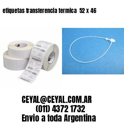 etiquetas transferencia termica  52 x 46