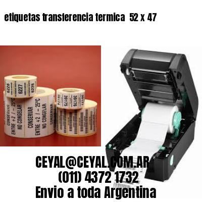etiquetas transferencia termica  52 x 47