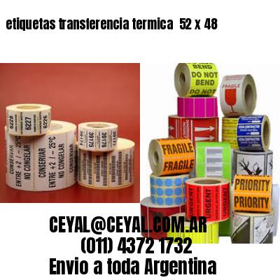 etiquetas transferencia termica  52 x 48