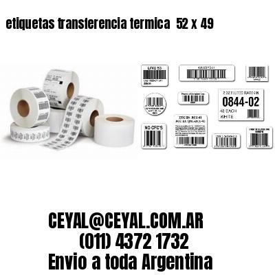 etiquetas transferencia termica  52 x 49