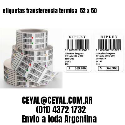 etiquetas transferencia termica  52 x 50