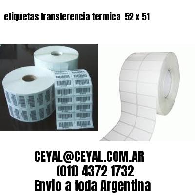etiquetas transferencia termica  52 x 51