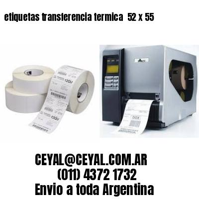 etiquetas transferencia termica  52 x 55