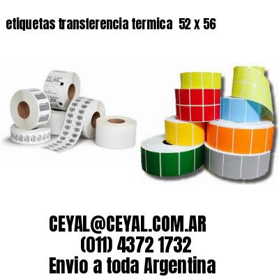 etiquetas transferencia termica  52 x 56
