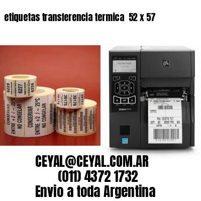 etiquetas transferencia termica  52 x 57