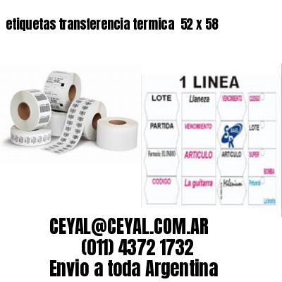 etiquetas transferencia termica  52 x 58