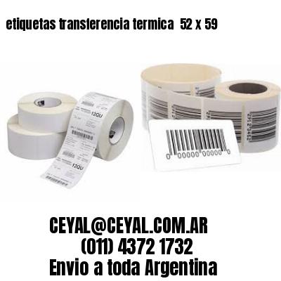 etiquetas transferencia termica  52 x 59