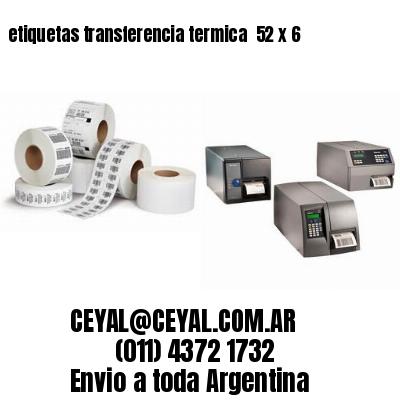 etiquetas transferencia termica  52 x 6