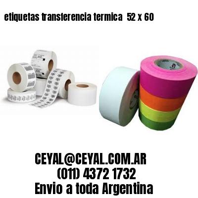 etiquetas transferencia termica  52 x 60