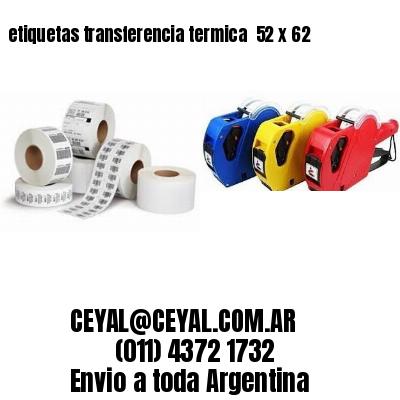 etiquetas transferencia termica  52 x 62