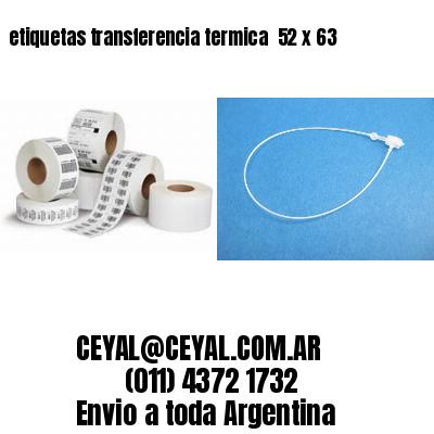etiquetas transferencia termica  52 x 63