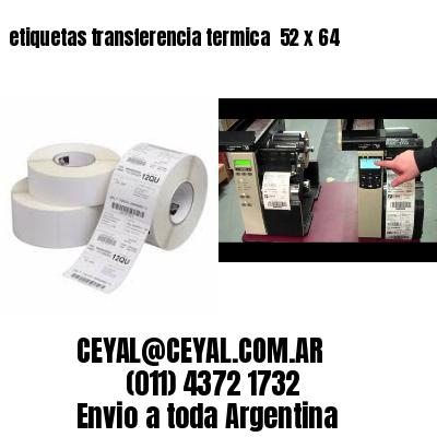 etiquetas transferencia termica  52 x 64