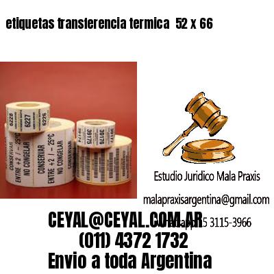 etiquetas transferencia termica  52 x 66