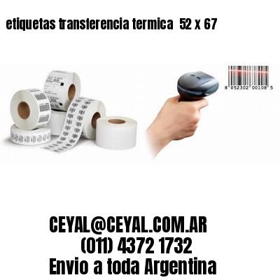 etiquetas transferencia termica  52 x 67