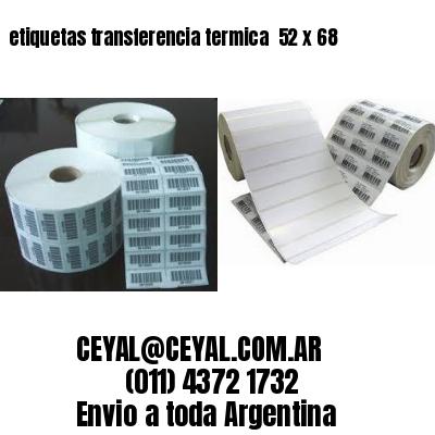 etiquetas transferencia termica  52 x 68