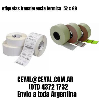 etiquetas transferencia termica  52 x 69