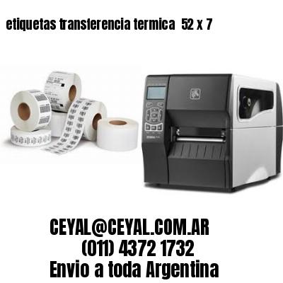 etiquetas transferencia termica  52 x 7