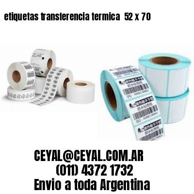 etiquetas transferencia termica  52 x 70