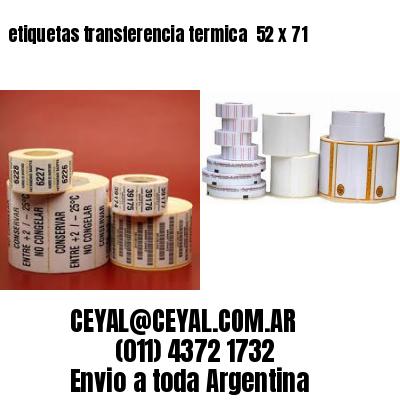 etiquetas transferencia termica  52 x 71