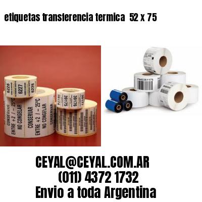 etiquetas transferencia termica  52 x 75