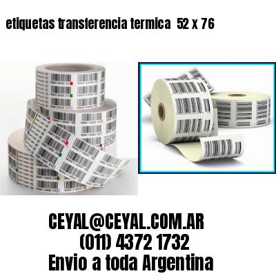etiquetas transferencia termica  52 x 76