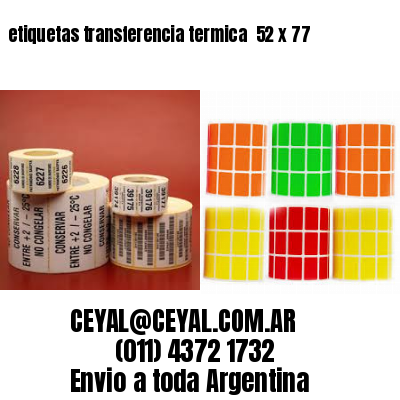 etiquetas transferencia termica  52 x 77