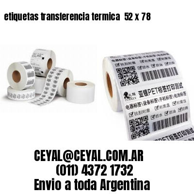 etiquetas transferencia termica  52 x 78
