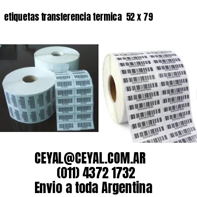 etiquetas transferencia termica  52 x 79